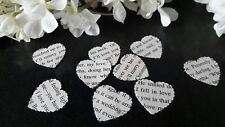 200 x 1 INCH SCALLOPED EDGE Paper Heart Vintage Romantic Novel Rustic Wedding