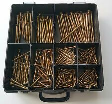 BNIB Assorted Small Organiser Box of Reisser R2 Wood Screws CSK Head