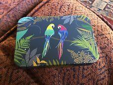 Sara Miller small decorative Tin, Parrots, 11x7.5x2.5cms