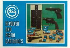Vintage Dynamit Nobel Geco Revolver Pistol Cartridges Bullets Promo Info Booklet