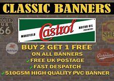 LARGE 2 METRE Classic Castrol Oil Banner for Garage / Shop /  Retro Sign