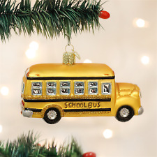 OLD WORLD CHRISTMAS YELLOW SCHOOL BUS GLASS CHRISTMAS ORNAMENT 46007