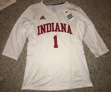 2015 Adidas Indiana Hoosiers #1 Team Issued 3/4 Game Worn Volleyball Jersey *L*