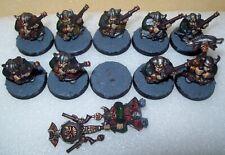 Warhammer Age of Sigmar Dwarfs / Duardin Thunderers x10 - neatly painted