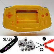 New Yellow Shell & Glass Screen Nintendo Game Boy Advance GBA Housing/Case Kit