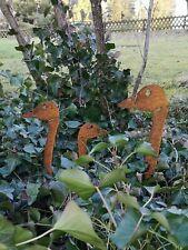 Edelrost gartenstecker Gänsekopf 42 cm