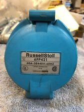 Russellstoll Receptacle 6FP421 60A 440 V 3Ph 60Hz Used