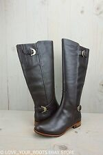 UGG AMBERLEE ESPRESSO LEATHER RIDING EQUESTRIAN STYLE  WOMENS BOOTS US 6 NIB