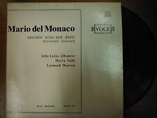 33 RPM Vinyl Mario del Monaco Operatic Arias and Duets Voce Records  021915SM