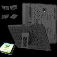 Para Samsung Galaxy Tab S4 10.5 T830 Hibrido Exterior Funda Negra + 0.4 H9