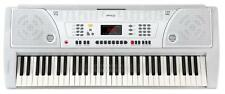 B-WARE 61-Tasten Keyboard E-Piano Lernfunktion 100 Sounds & Rhythmen Weiss