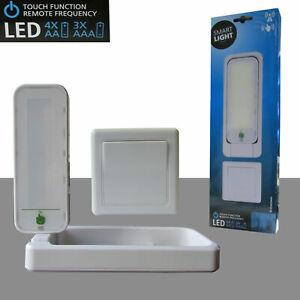 Drehbare LED Nachtleuchte mit Funk Schalter EIN - AUS Batteriebetrieb wireless