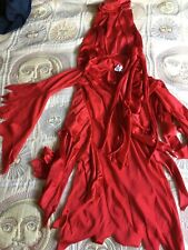 Party Magic Kids Devil Tunic & Cape Dressing Up Size Medium (Approx 8-10 Years)