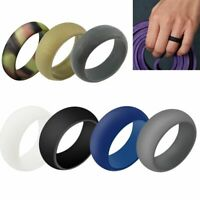 Set of 7 Pack Silicone Wedding Engagement Ring Men Women Rubber Band Gym Sports