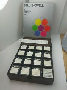Bell and Howell 16 Slide Cube Cartridge Library READ DESCRIPTION
