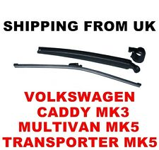 REAR WIPER ARM & BLADE SET VW MULTIVAN TRANSPORTER CARAVELLE MK5 V T5 CADDY MK3