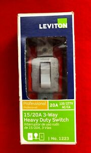 Leviton Professional 15/20A 3-Way HD Switch Controls Lights From 2 Locations