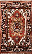 Geometric RUST Heriz Oriental Area Rug Wool Hand-Knotted Home Decor Carpet 2'x3'
