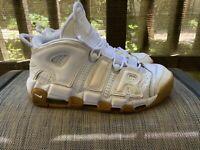 Nike More Uptempo Size 10 White/Gum
