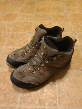 Merrell Men's Yellow Brown Boulder Select Dry Mid Hiking Boots Size 10 J09559
