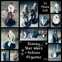 Disney Star Wars Lot of 11 Figurines Young & Old Leia, Chewbacca, Rey Mixed Lot