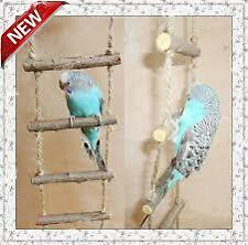 Wood rope ladder for Budgerigars,love birds & finch
