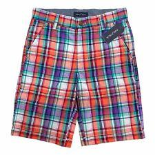 Nautica Boy's Jordyn Plaid Shorts Size 8 $36.50