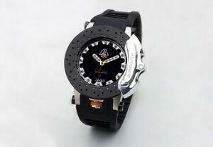 AUTOart 40044 AUTOart Sports Caliper Watch Carbon Black Disc  Watches Clocks