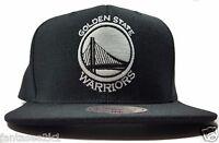 Golden State Warriors Mitchell & Ness Current Black W Wool Snapback Hat NBA