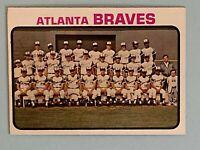 Topps 1973 #521 Atlanta Braves Team Card