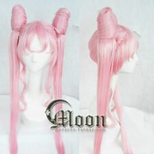 BLACK LADY Sailor Moon Sailor Chibi moon Small·Lady Pink Cosplay Party Wig Hair+