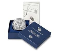 American Eagle 2018 One Ounce Silver Uncirculated Coin W Mint Mark Burnished