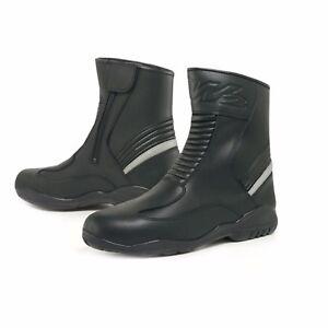 W2 TOUR-LITE RAINPROOF ROAD Short Ankle Sports BOOTS - BLACK