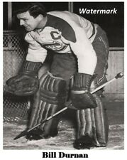 NHL 1940's Montreal Canadiens Goalie Bill Durnan Black & White 8 X 10 Photo Pic