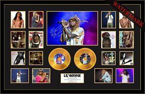 NEW! LIL WAYNE MAKE IT RAIN SIGNED MINI GOLD VINYL RECORD LTD ED OF 100 FRAMED