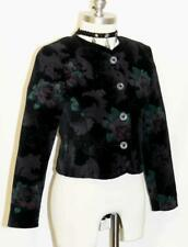 "BLACK VELVET JACKET German SHORT SLEEVE Evening Holiday Dress Suit 2 XS B33"""