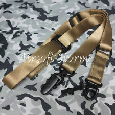 Airsoft Single/Two Point MS2 Style Multi Mission Rifle Sling Desert Tan