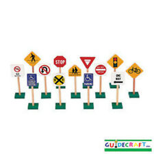 Guidecraft 7 Block Play Traffic Signs G309 Traffic Sign NEW