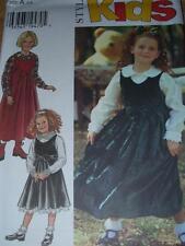 STYLE #2785 - GIRLS JUMPER or DRESS & BLOUSE w/PETER PAN COLLAR PATTERN  3-8 FF