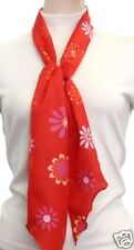 Ruffle Belt Waist Neck Scarf Sash Red Floral Print NEW