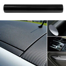 US Car Accessories 5D Carbon Fiber Vinyl Wrap Black Sticker Glossy Decal 12x60""