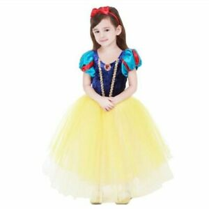Girls Snow White Princess Dress Kids Summer Costume With Cloak Cosplay Dress