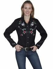 Petites Long Sleeve Button Down Shirt Tops & Blouses for Women