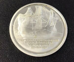 History of English Speaking People Sterling Silver Coin - The Mayflower 1620AD