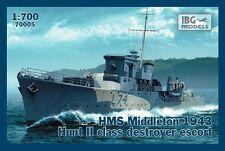 HMS Middleton 1943-WW II Royal Navy Hunt II-CLASSE 1/700 IBG