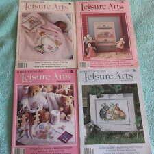 LOT Vintage LEISURE ARTS Craft Magazines Cross Stitch Knit 100+ Projects 80s/90s