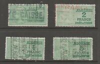 France Algeria revenue fiscal stamp 4-17-26