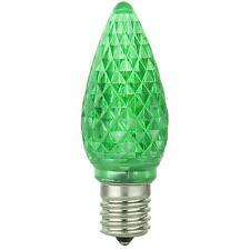 6 Pack Sunlite 80706-SU C9/3LED/0.4/G/6PK LED Intermediate Based C9 Lamp Green
