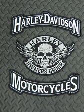 Harley Davidson Motorcycles & Harley Owners Group Skull Rocker Patch Set