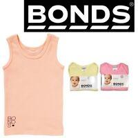 BONDS BABY RIBBIE CHESTY Singlet Ribbed Top Tank Pink Yellow Boys Girls BYXJGX